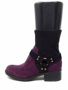 Lori-Goldstein-Collection-Womens-Wilda-Mid-Calf-Boots-Mulberry-Black-Size-8-5-M
