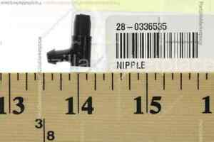 "NEW OMC EVINRUDE JOHNSON 327067 90° NIPPLE 3//16/"" ID TUBE x PRESS FIT END 0327067"