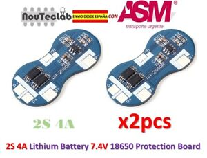2pcs-2S-4A-Li-ion-Lithium-18650-BMS-PCM-7-4V-Battery-Protection-Board