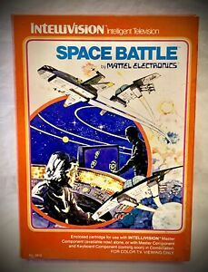 SPACE-BATTLE-Vintage-1979-Mattel-Intellivision-Complete-Video-Game-Red-Box