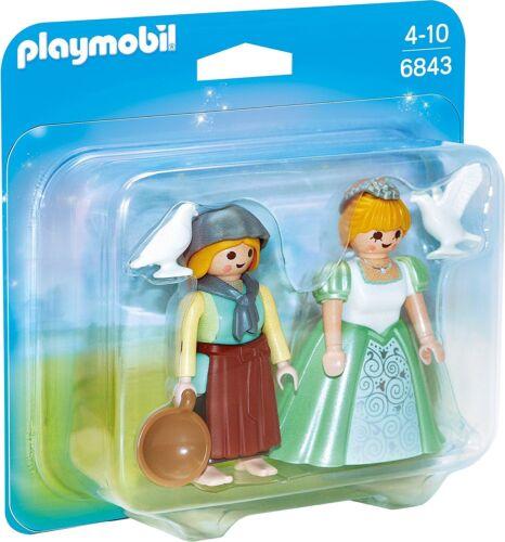 Playmobil Duo Pack Prinzessin und Magd 6843 Neu /& OVP Traumschloss Aschenputtel