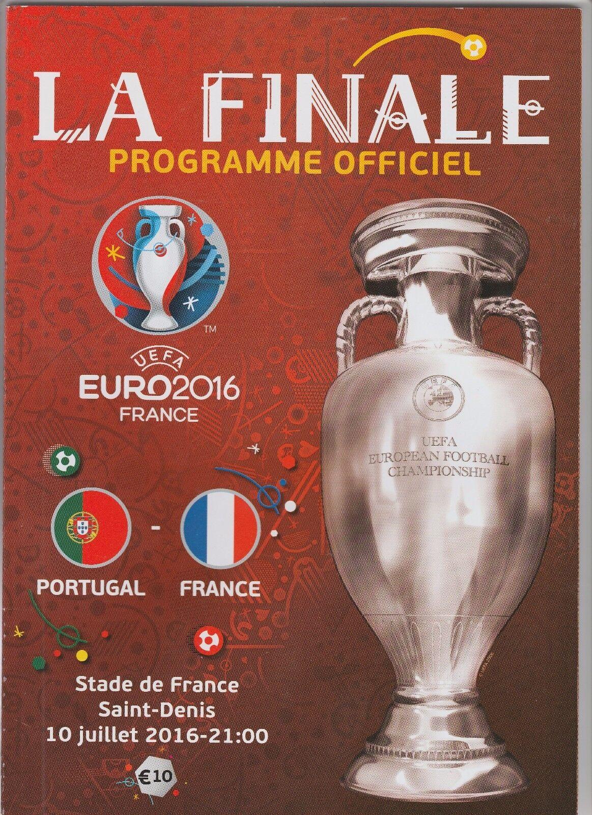 Orig.PRG  Europameisterschaft Europameisterschaft Europameisterschaft Frankreich 2016 FINALE FRANKREICH - PORTUGAL   TOP cde2bd