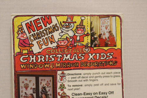 Vintage 1970/'s Old Stock Sealed CHRISTMAS KIDS Delightful Stained Glass Scenes
