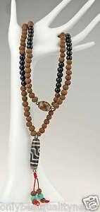 Tibet-Mala-Halskette-Raktu-Samen-Asien-Nepal-Gebetskette-Dharma-Buddha-86b
