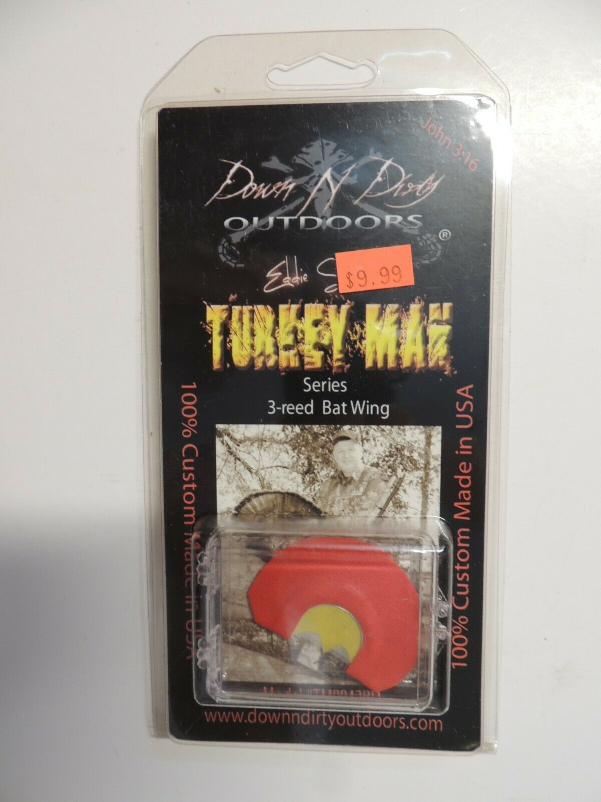 Turkey Mouth Call with 3 Reed Batwing Cut Diaphragm Turkey Calls for Hunters