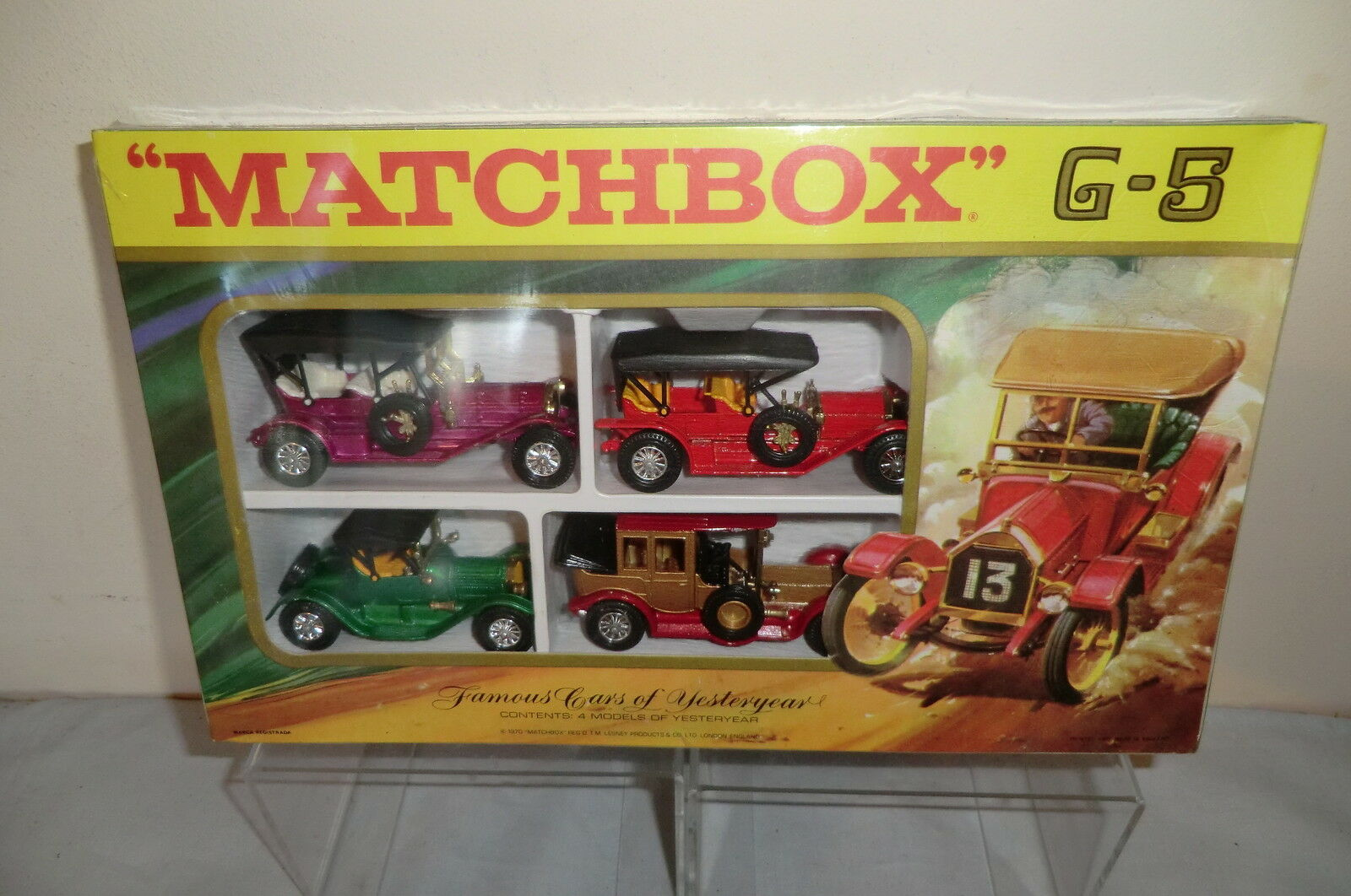 MATCHBOX MODEL No.G-5  FAMOUS CARS OF YESTERYEAR  GIFT SET    MIB