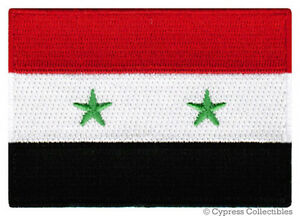SYRIA FLAG Embroidered Ironon PATCH SYRIAN ARAB EMBLEM BASHAR - Syria flag