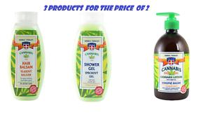 Set-of-3-Herbal-Massage-Gel-Hair-Balsam-Shower-Gel-WITH-HEMP-OIL