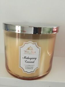Bath And Body Works White Barn Mahogany Coconut  3 Wick Candle - chichester, West Sussex, United Kingdom - Bath And Body Works White Barn Mahogany Coconut  3 Wick Candle - chichester, West Sussex, United Kingdom