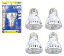 4 Pack 3 Watt LED 110V Light Bulbs = 40 Watt Replacement Energy Saving 80% Bulb