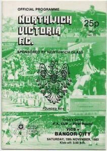 Nov 83 NORTWICH VICTORIA v BANGOR CITY FA Cup