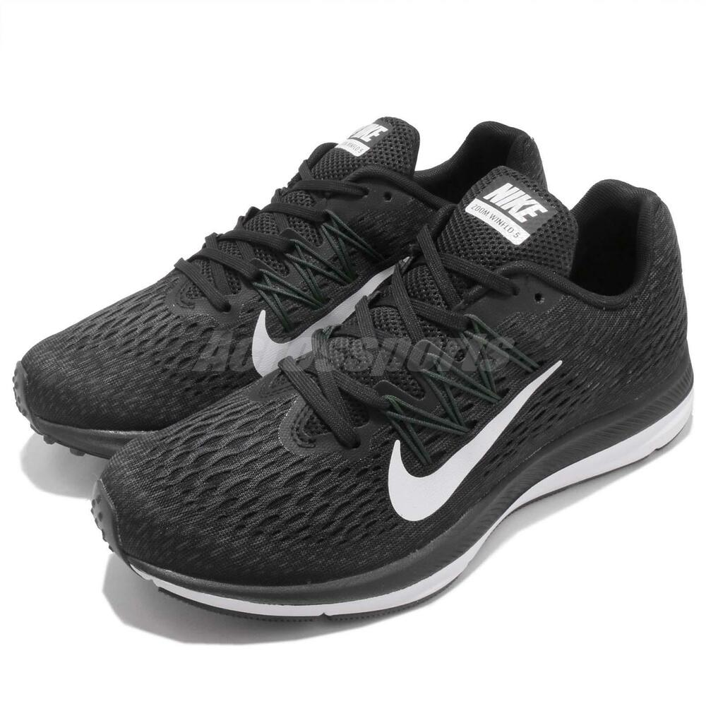 Nike Wmns Zoom Winflo 5 V Noir BLANC Women Running Chaussures Sneakers AA7414-001 Chaussures de sport pour hommes et femmes