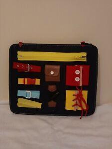 """Toddler """"Busy Board"""" Montessori compétences de Base Board (neuf en sachet)"""