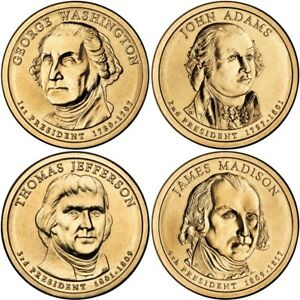 Mint Rolls Money Collectibles 2008 P Presidential One Dollar Coins Coin U.S