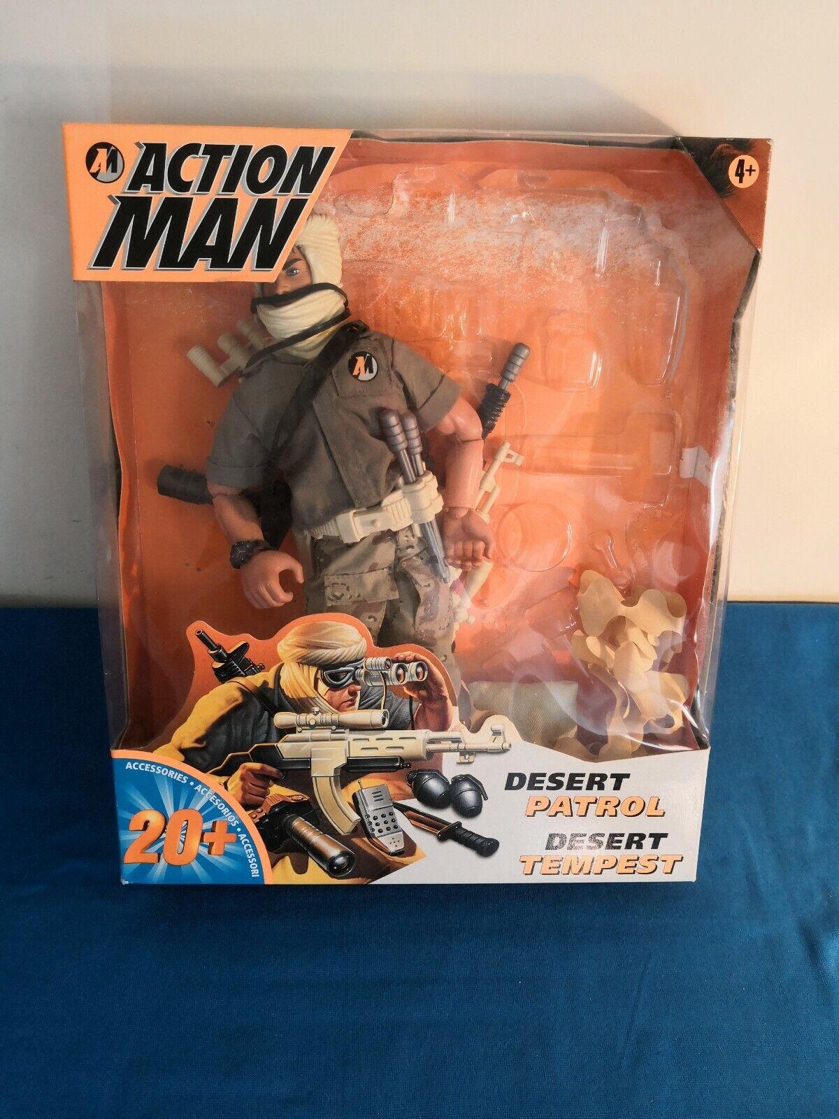 Action Man Man Man 1997 De Hasbro-Desert Patrol tempestad figura b3f84a