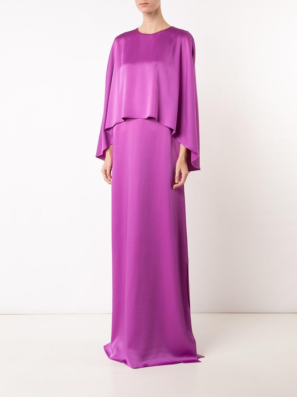 2190 New 17 Resort Oscar de la Renta Hyacinth Purple Caftan Kaftan Gown Dress L