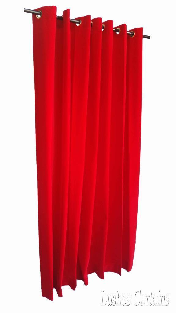Rouge 3.7m m long velours rideaux velours long Panneau W/Œillet oeillets Haut de la page c40a4f
