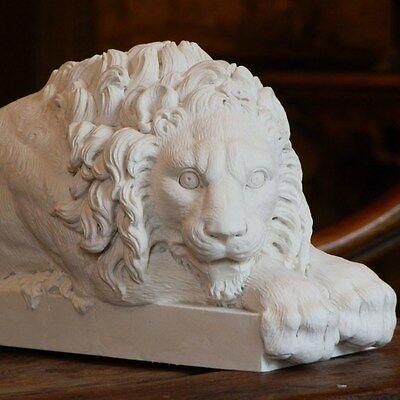 Canova Lions une paire 32 cm long haute qualité de plâtre