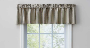 Park-Designs-DOVER-Dark-Tan-and-Black-Ticking-Unlined-Window-Valance-72-034-x14-034