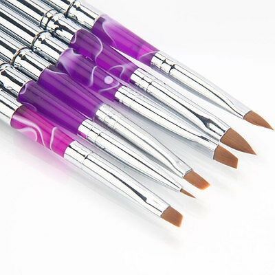 6 Pcs Detachable Nail Art Painting Pen Brush Set for Acrylic Nail UV Gel