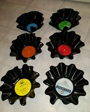 Set of 6 RECORD PARTY BOWLS -Made from vinyl LP records