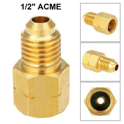 "Brass R1234YF Hose to R134a Vacuum Pump Adapter Fitting 1//2/"" ACME Thread"