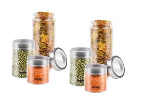 Lamart 6 Vorratsdosen Aufbewahrungsdosen Frischhaltedosen aus Glas LT6010