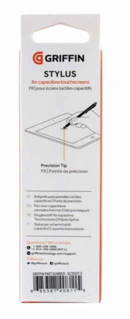 Griffin GC35032 White Stylus For Touchscreen Tablets//Smartphones iPad iPod NIB