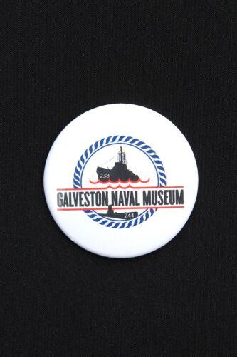 "1/"" IN DIAMETER REFRIGERATOR MAGNET GALVESTON NAVAL MUSEUM"