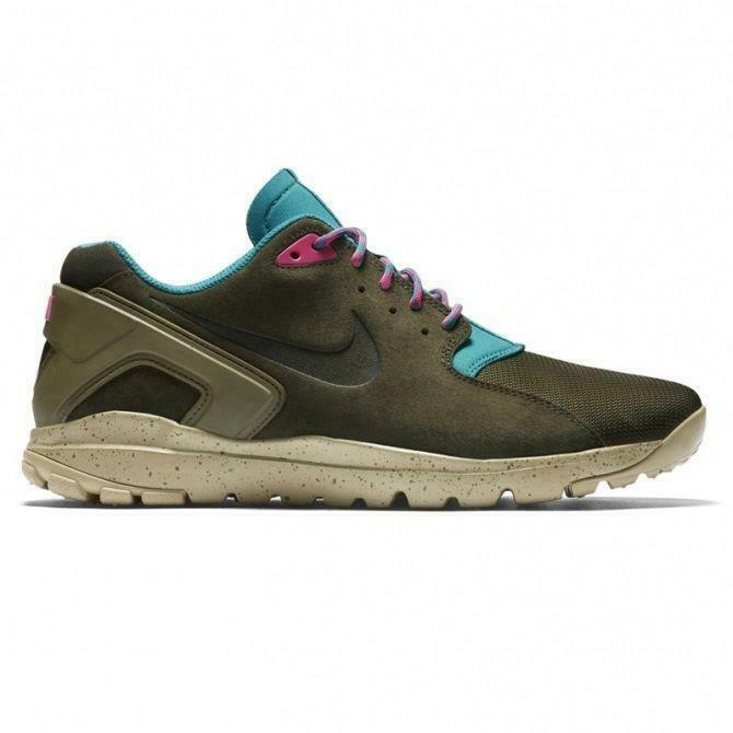 Mens NIKE KOTH ULTRA LOW Dark Loden Suede Trainers 749486 333