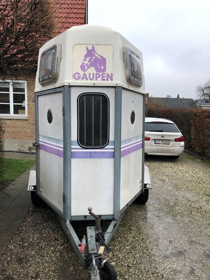 Dyretransport, Gaupen Trailer Til 2 heste, lastevne (kg):
