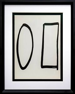 Ellsworth KELLY Lithograph ORIGINAL 1964 Forms LIMITED Ed. w/Custom Frame