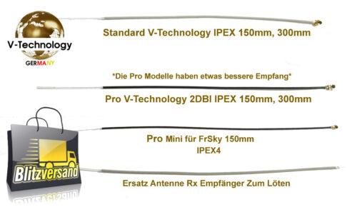 RC Ersatz Antenne 120mm 150mm 300mm 2,4GHz Empfänger Redcon Absima OrangeRX usw.