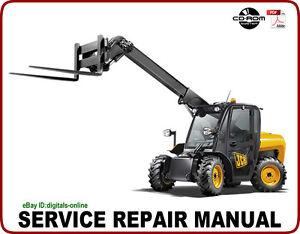 jcb 526 526s 528 70 528s telescopic handler service repair manual cd rh ebay com JCB Forklift Operators Manual JCB Forklift Manuals