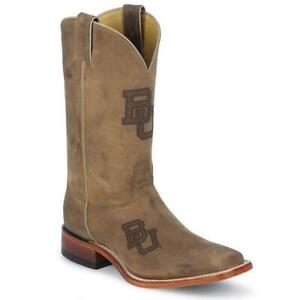 Nocona-MDBU12-Men-039-s-Baylor-Brown-Cowhide-Branded-College-Boots