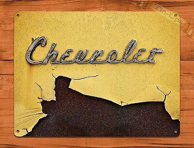 TIN-UPS TIN SIGN Chevrolet Car Rust Retro Wall Art Auto Decor