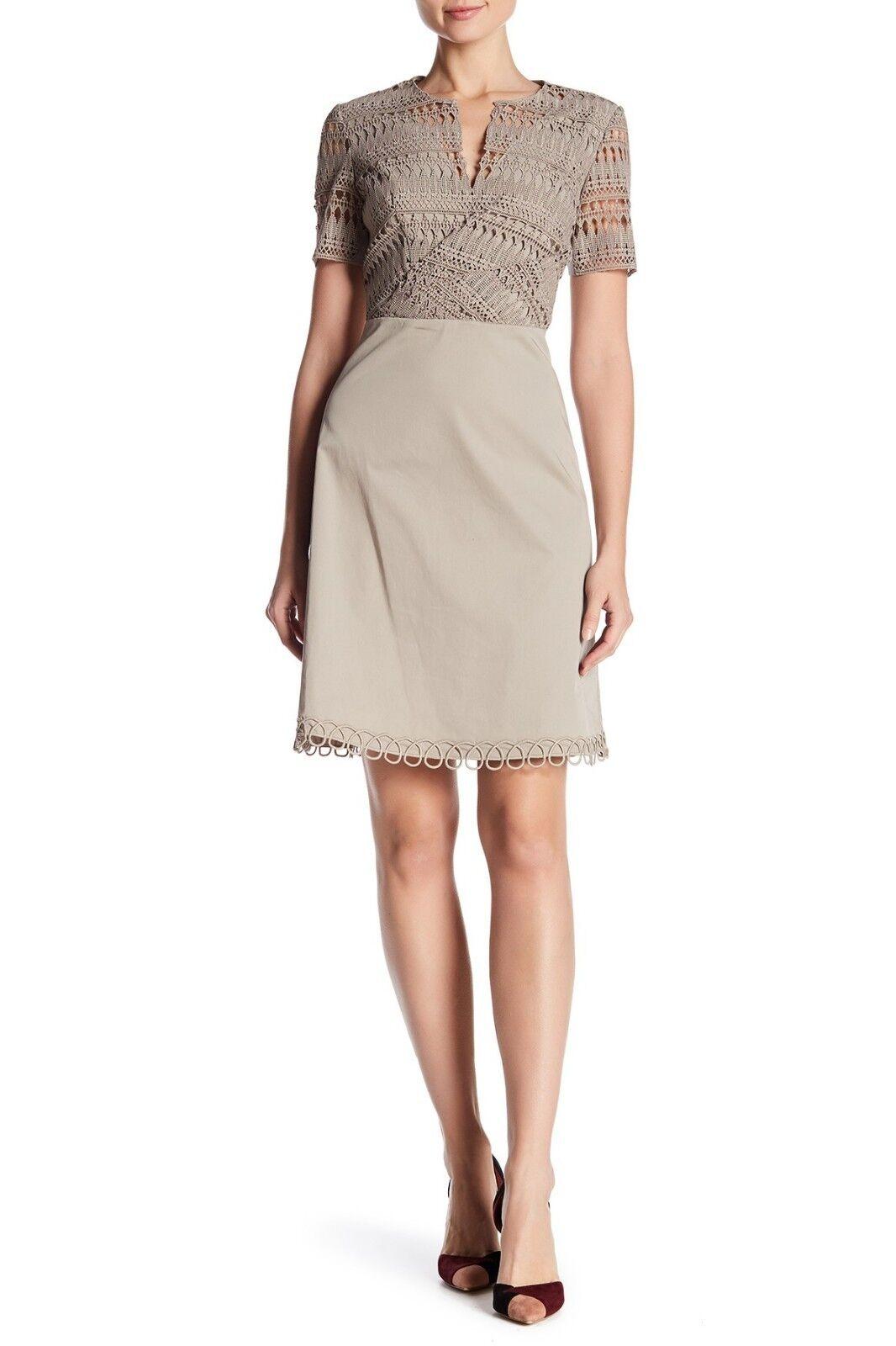 Elie Tahari Kinley Crochet Bodice Dress (size 14) 14) 14) 65ed35