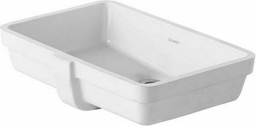 "Duravit 033048-0HOLE Vero 20-5/8"" Rectangular Ceramic Undermount - White"