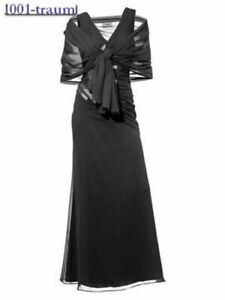HEINE-BLACK-Evening-Party-Dress-amp-Scarf-Size-16