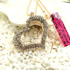 Betsey Johnson charm gold-plated Crystal Sunflower sweater chain necklace DD88