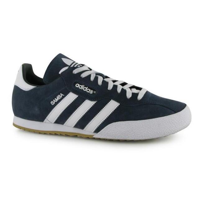 09a063777b9 adidas Originals Samba Super Suede Shoes Men s SNEAKERS Blue 019332 UK 12
