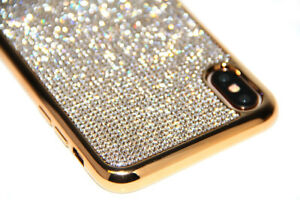 Gold-Bling-Diamond-Case-Soft-Cover-For-iPhone-X-XR-XS-Max-With-Swarovski-Element