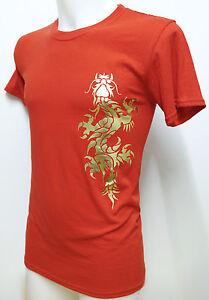 Chinese Dragon Gold Foil Design T Shirt Mma Tribal Yakuza Tattoo