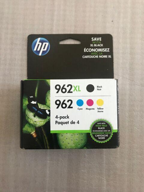 "HP 962XL High Yield Black And HP 962 Cyan/Magenta/Yellow Ink Cartridges ""Retail"""
