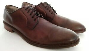 Aston-Grey-Barry-Men-039-s-Brown-Leather-Lace-Up-Dress-Plain-Toe-Oxfords-Sz-11-5