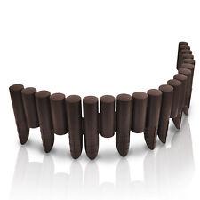 2,3 Meter Palisade braun Rasenkante Beetumrandung Kunststoff - Holzoptik