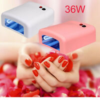 36W/9W Nail Polish Dryer Curing Gel Acrylic Manicure UV Lamp Dryer+ 4 Tube Light