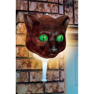 "LIVINGbasics® Halloween Cat Porch Light Cover Wall Decoration 12""x12"""