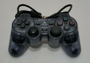 Sony Playstation 2 OEM Analog Controller SCPH-10010 PS2 Dual Shock 2 Clear Wired