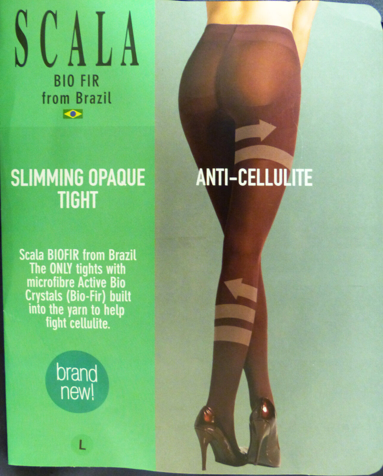 5db2c33e86 Scala Large Size Slimming   Anti-cellulite Shapewear Black Opaque Tights  for sale online